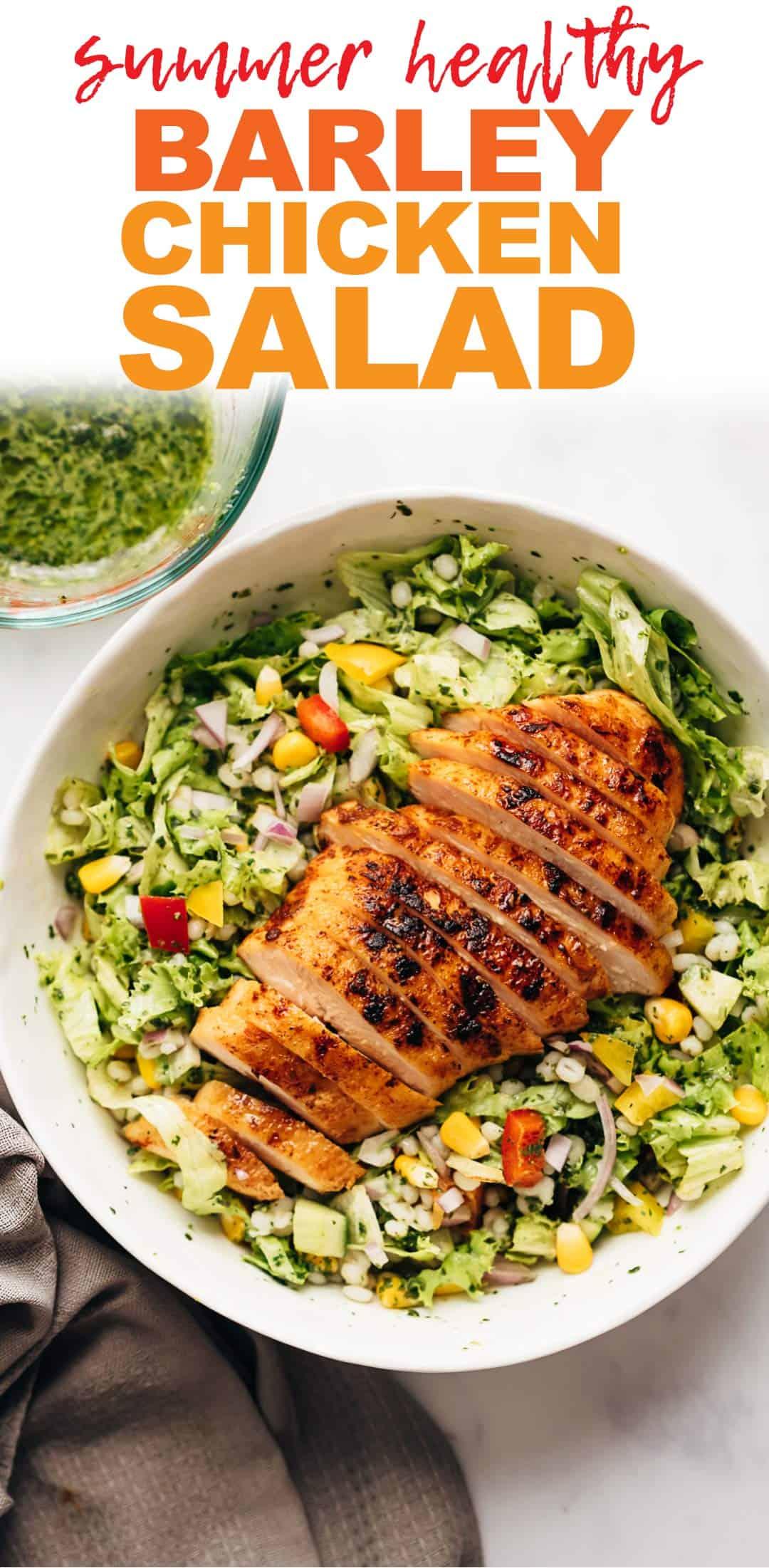 Barley Chicken Salad with Herb Vinaigrette