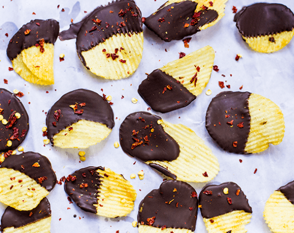 A picture of Chili Chocolate covered Potato Chips.