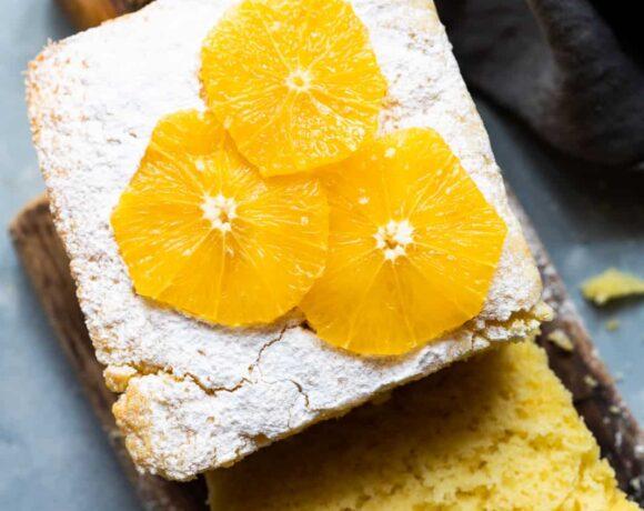 Orange Buttermilk Pound Cake sliced
