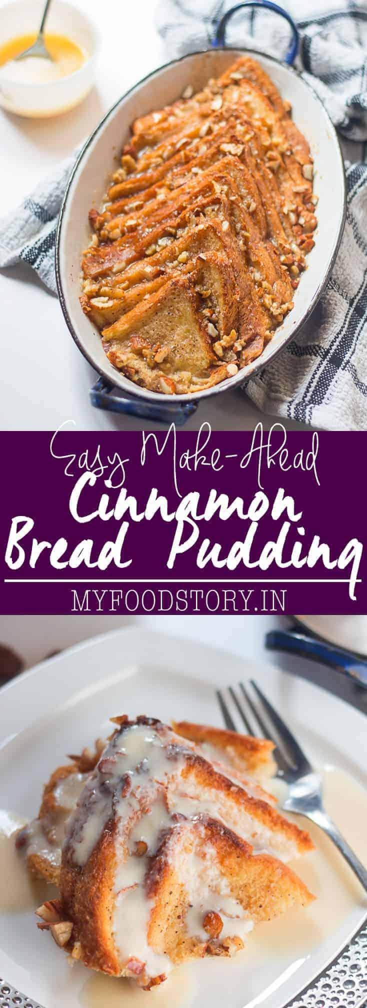 Easy Make-Ahead Cinnamon Bread Pudding