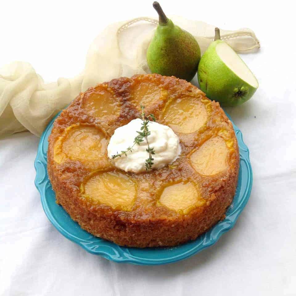 Simple Pear Upside Down Cake