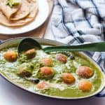 The Healthy Palak Paneer Kofta Curry served in a dish.