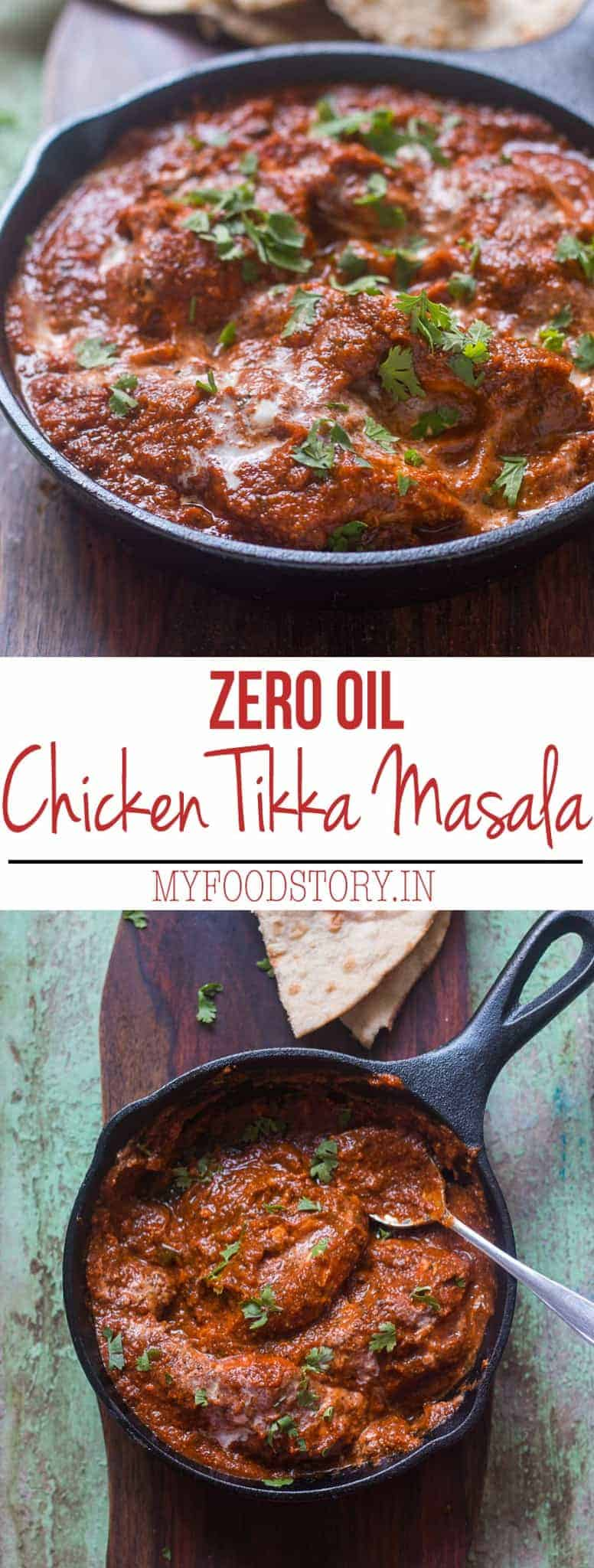 Zero Oil Chicken Tikka Masala