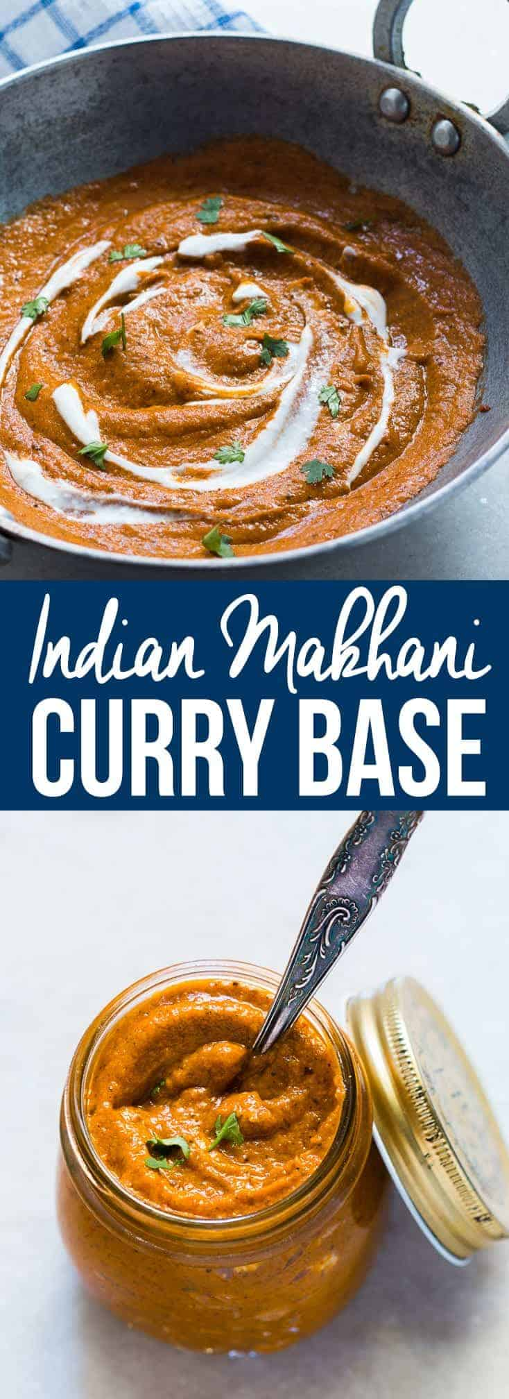 Learn how to make Indian Makhani Gravy (Curry) that is freezer-friendly and can be stored in jars or zip-locks for later use. The gravy or curry is the backbone of a lot of Indian dishes and this recipe covers a variety of them - paneer makhani, murgh (chicken) makhani, paneer butter masala, chicken butter masala, veg makhani or even egg makhani. It has no added food coloring and gives a restaurant-style taste! #myfoodstory #recipe #indian #curry #gravy #howtomake #freeze