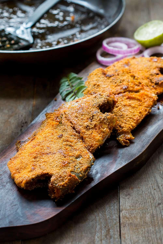Rava Pomfret Fish Fry (Mangalorean Style)