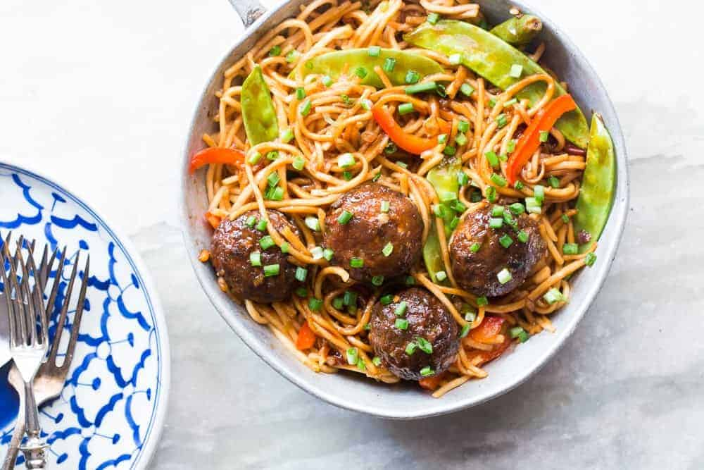 One pan veg noodle and manchurian stir fry indo chinese my food save forumfinder Image collections
