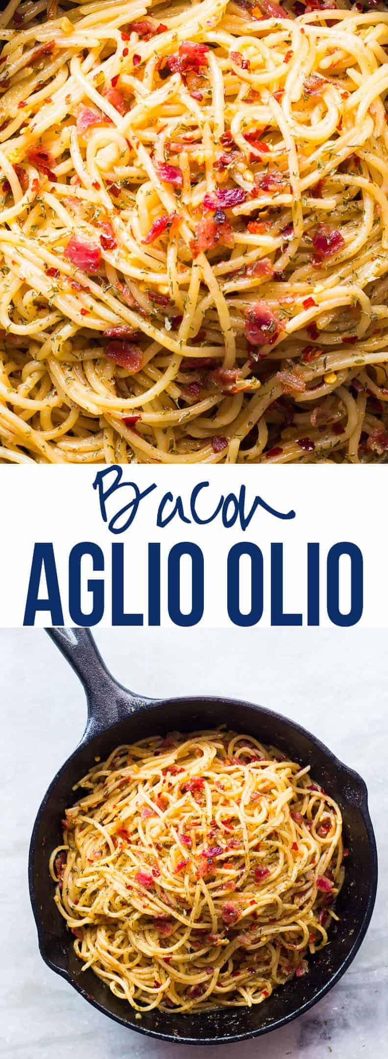 This 5 Ingredient Bacon Spaghetti Aglio Olio makes for a soul filling meal. It will take you 20 minutes to put this together but if the spaghetti is boiled, its super quick! The only pre-requisite is good quality of ingredients which are a total of 5! Cook the pasta al dente for best results! If you\'re a vegetarian, you can skip the bacon. #myfoodstory #recipe #pasta #spaghetti #bacon