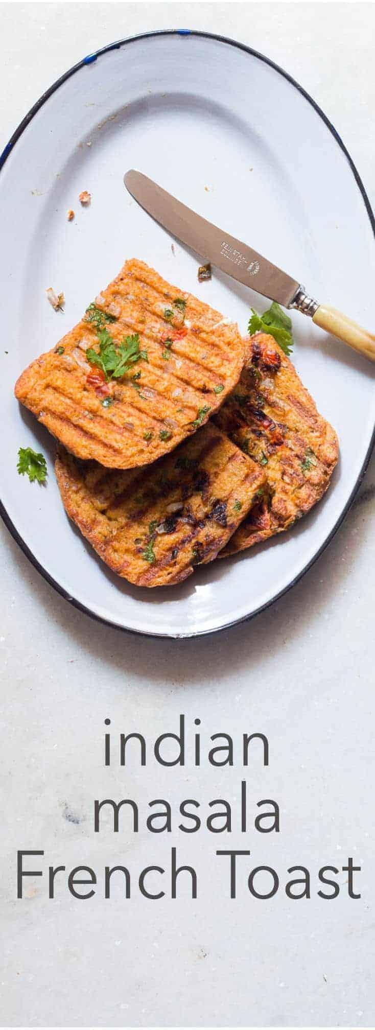 Indian Masala Egg French Toast