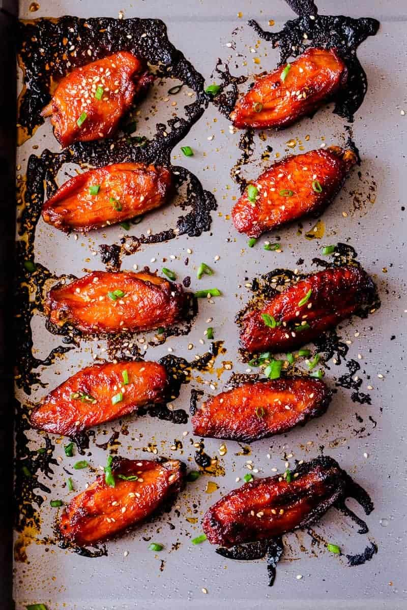 Korean baked gochujang chicken wings super addictive spicy crispy full of umami and insanely addictive korean baked gochujang chicken wings forumfinder Image collections