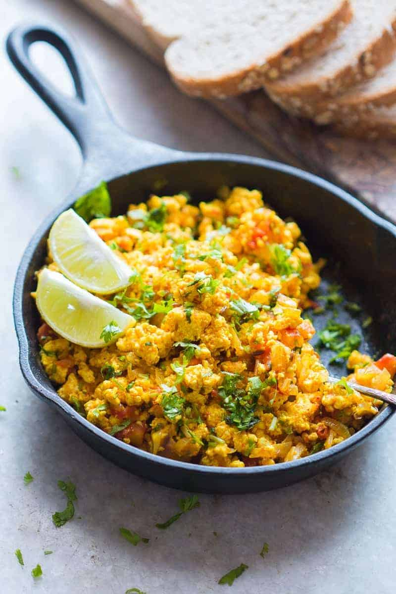 Paneer Bhurji Recipe Turmeric Cottage Cheese Scramble