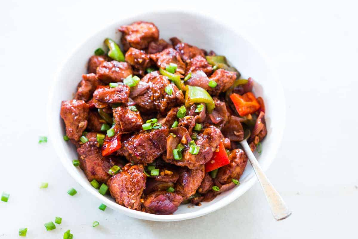 chinese chilli chicken stir fry
