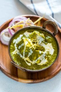 This is the easiest recipe you'll find for palak paneer. No need to blanche spinach, or grind masala, but great restaurant style palak paneer flavour!