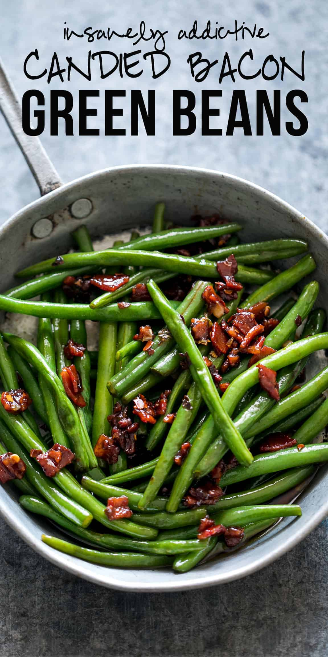 Sauteed Brown Sugar Bacon Garlic Green Beans make for a really unique side dish that will leave your guests in awe! This recipe comes with the basics of green beans and answers all your questions about the whole process. You can substitute fresh beans with frozen ones to get this garlicky and sweet side dish! #myfoodstory #recipe #howtomake #beans #greens #healthy #easy