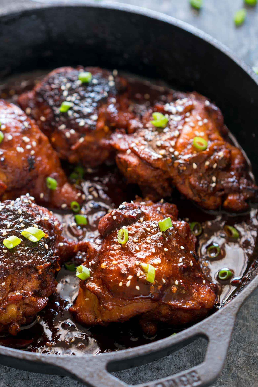 Spicy Korean Chicken Thighs In Gochujang Sauce