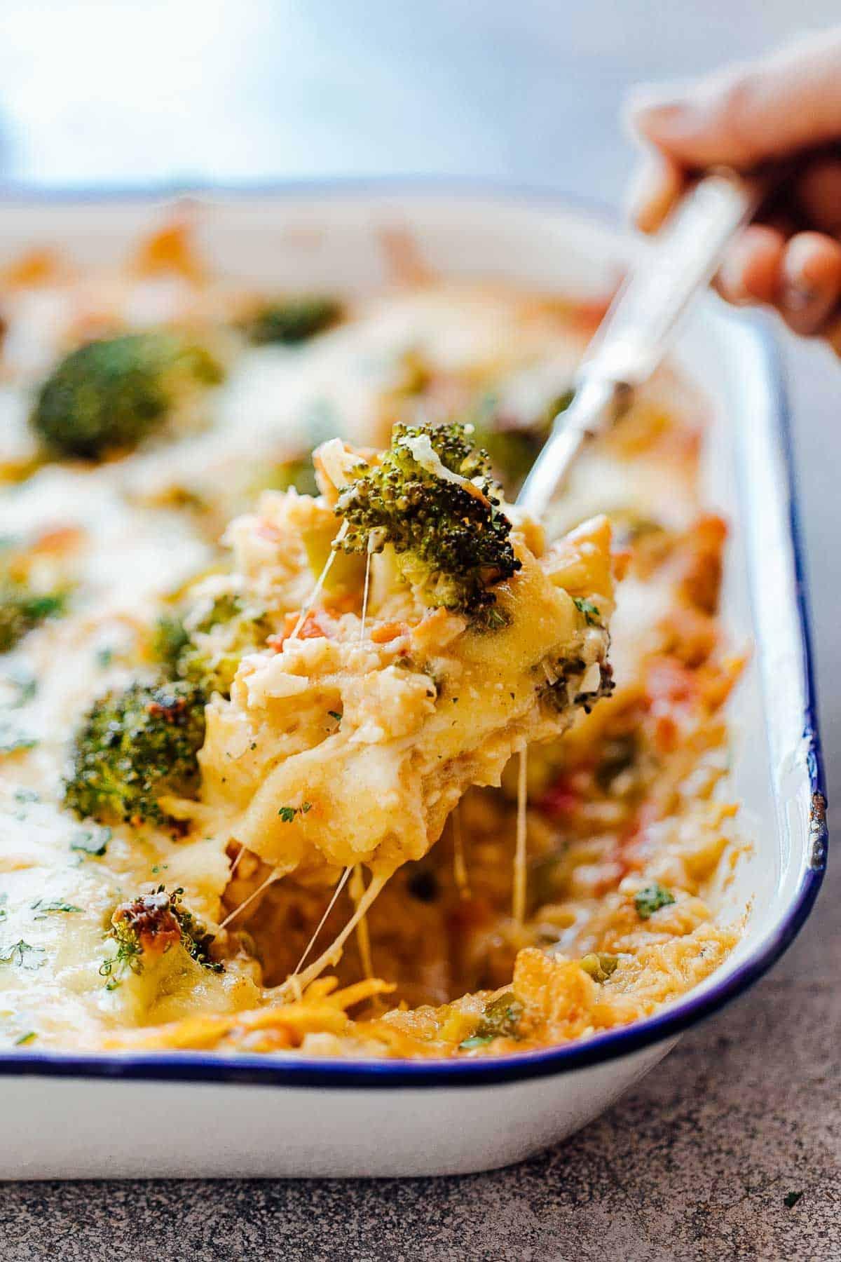recipe: cauliflower broccoli rice casserole [11]