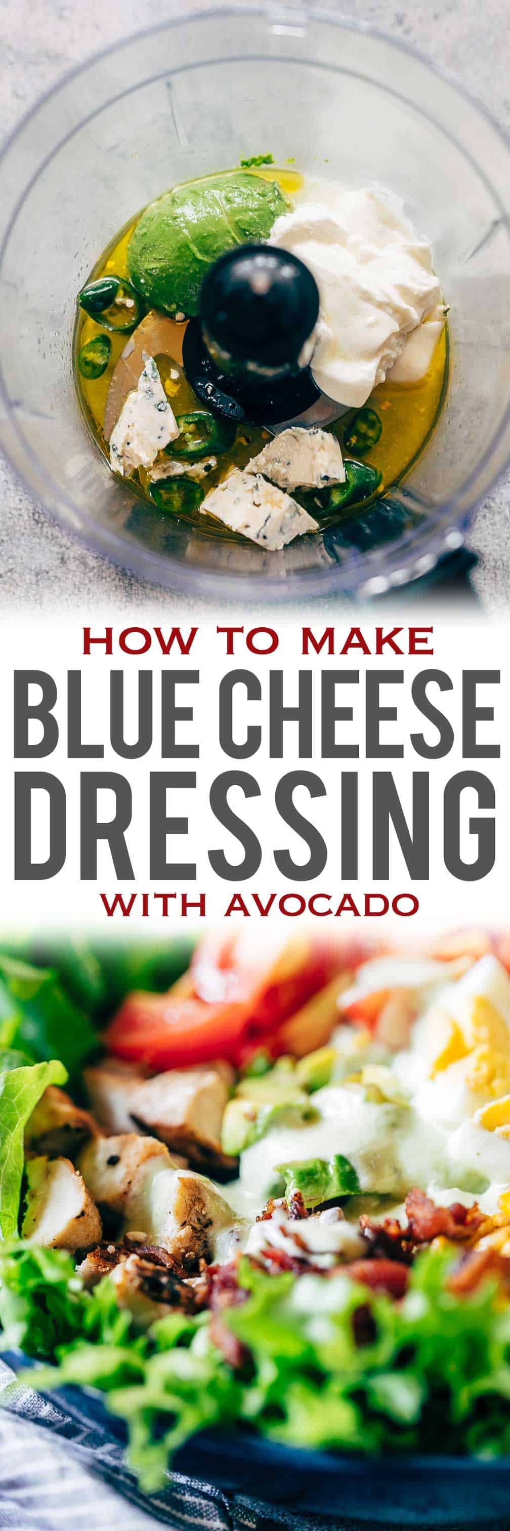 Creamy Avocado Blue Cheese Salad Dressing