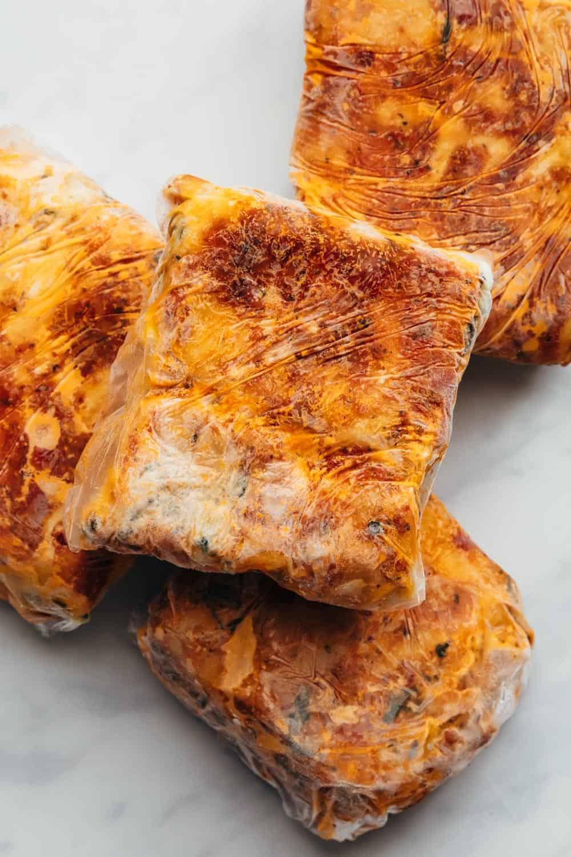 Frozen lasagna packets