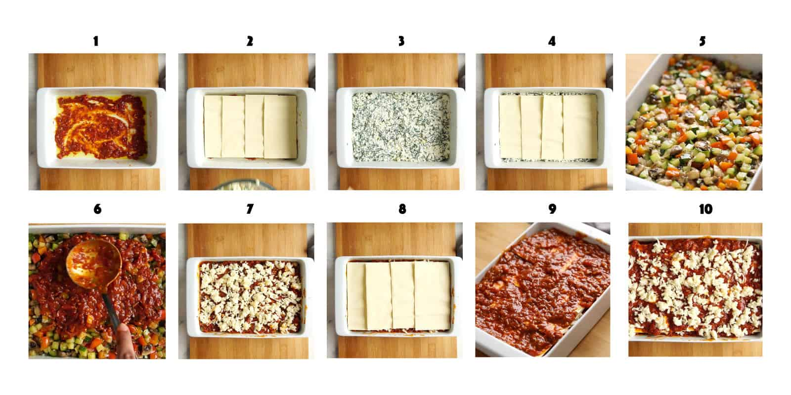 How to layer a lasagna