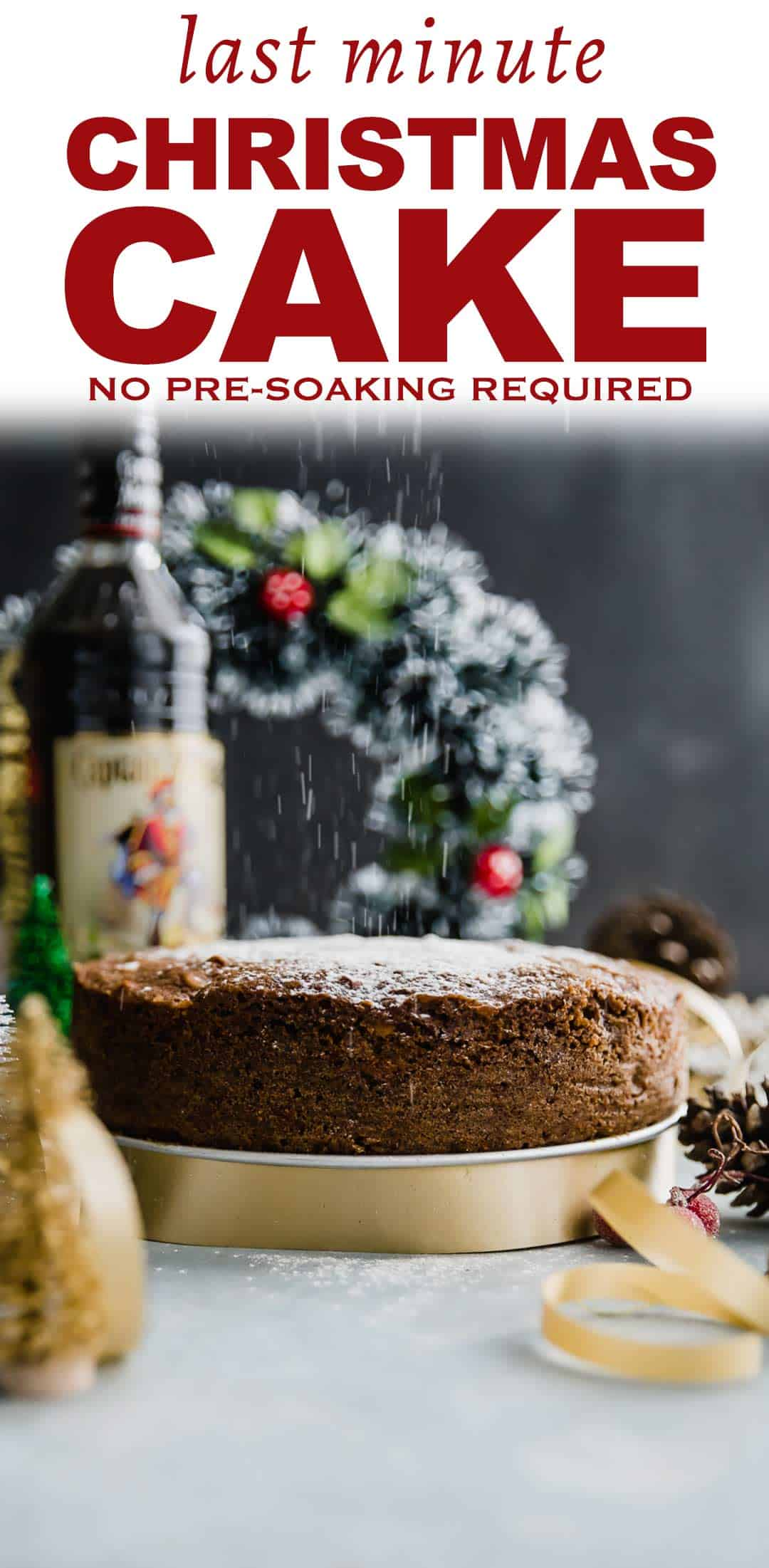 If you are looking for a last minute plum cake recipe two days before Christmas then this is it. The same intense taste, dry fruits and nuts in every bite and you don\'t need to pre-soak the dried fruit either. We use dark rum to boil the fruits but if you want a non alcoholic plum cake, use apple juice. #christmas #holiday #baking #easter