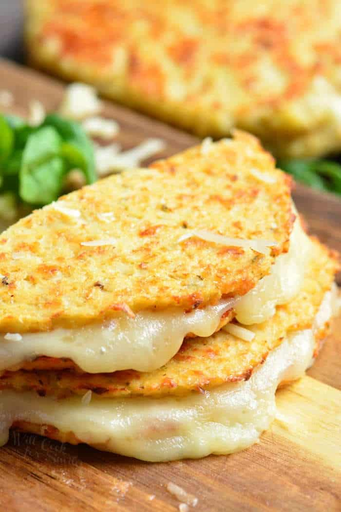 cauliflower grilled cheese - healthy cauliflower recipes