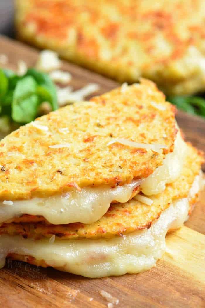 cauliflower grilled cheese - healthy cauliflower recipes
