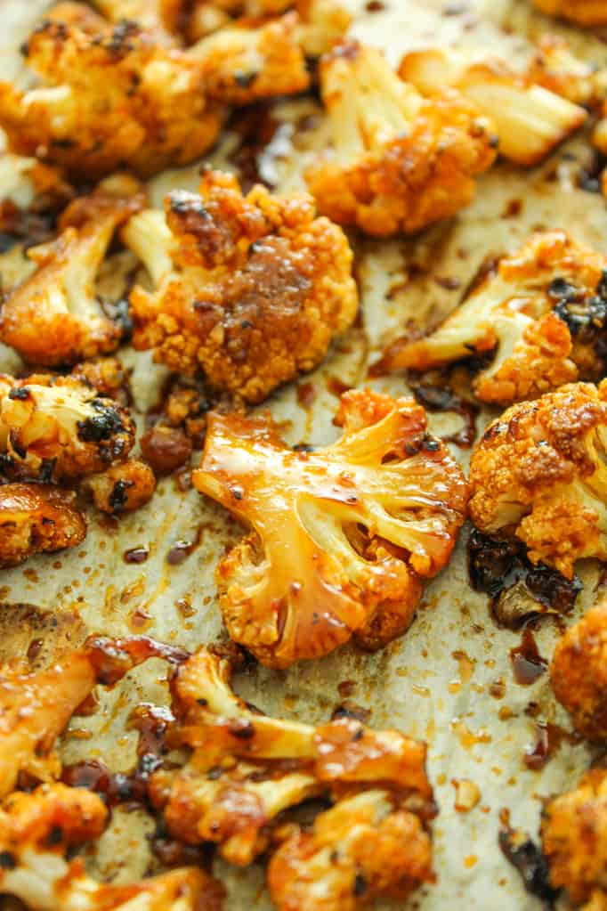 Sweet Spicy baked cauliflower - healthy cauliflower recipes