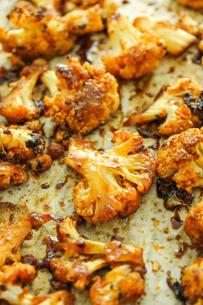 Sweet Spicy baked cauliflower - healthy cauliflower recipes