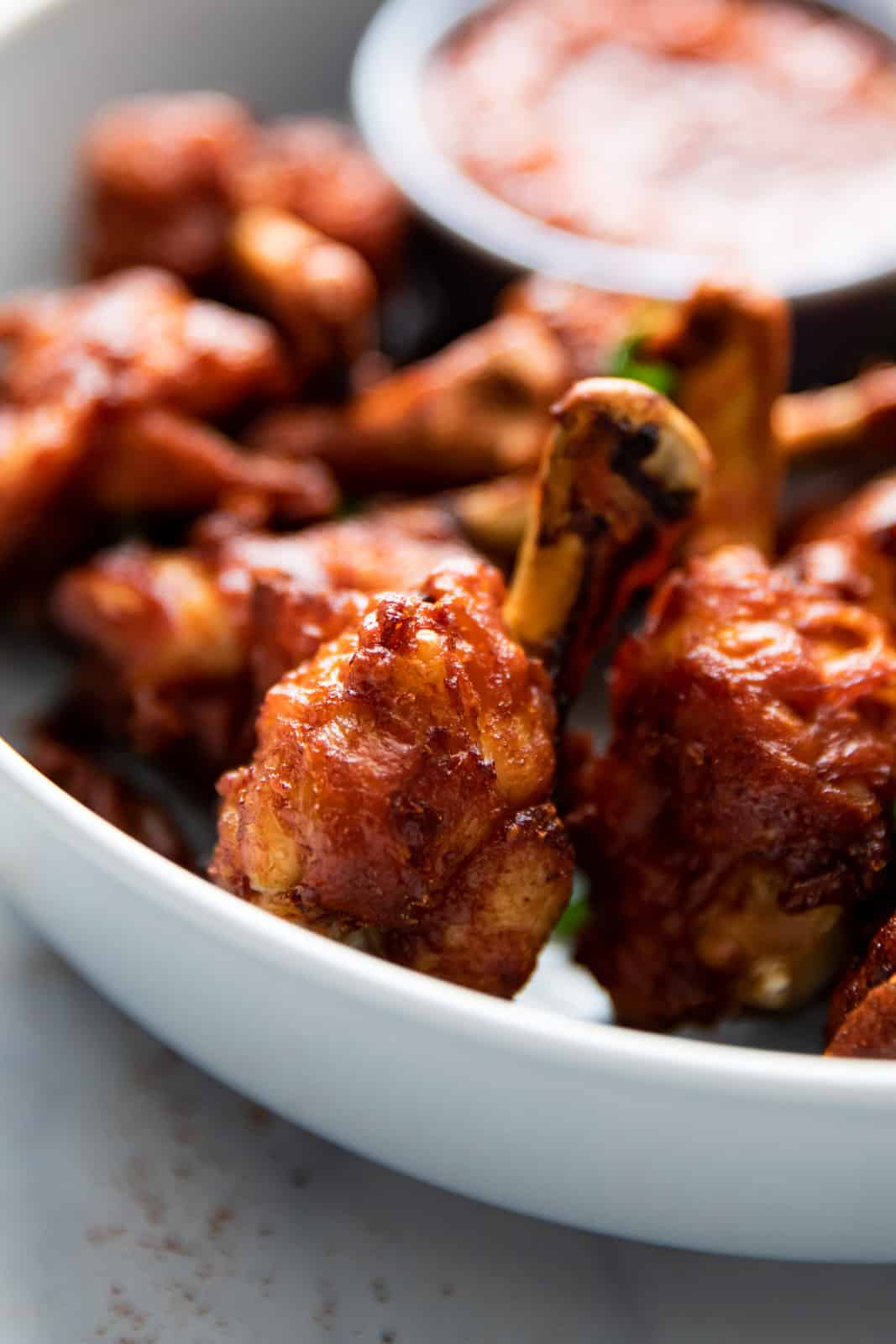 Closeup of chicken lollipop