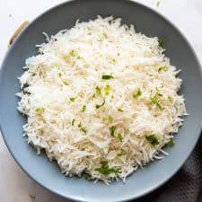 How to cook basmati rice thats served in a bowl in the picture