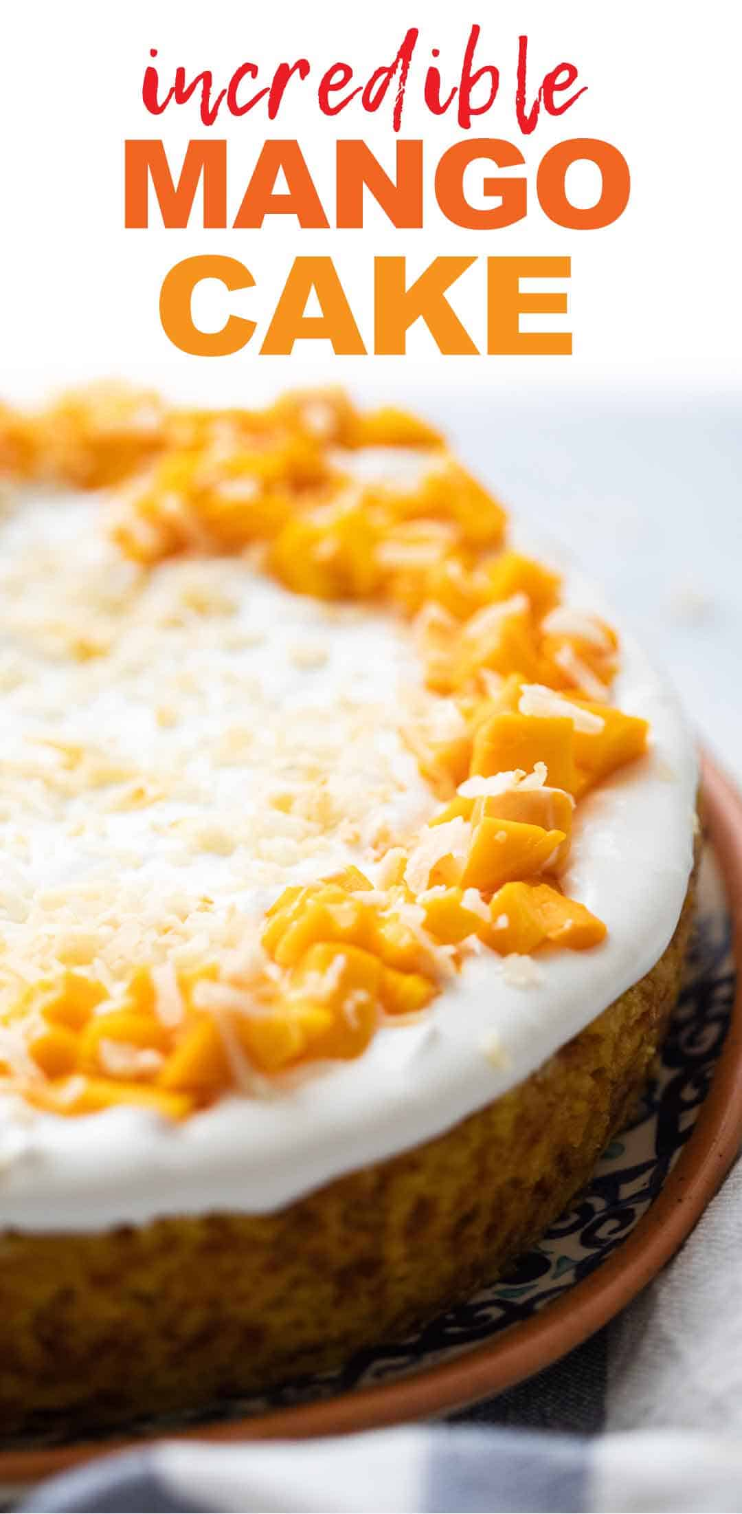 Eggless Mango Cake – soft and moist!