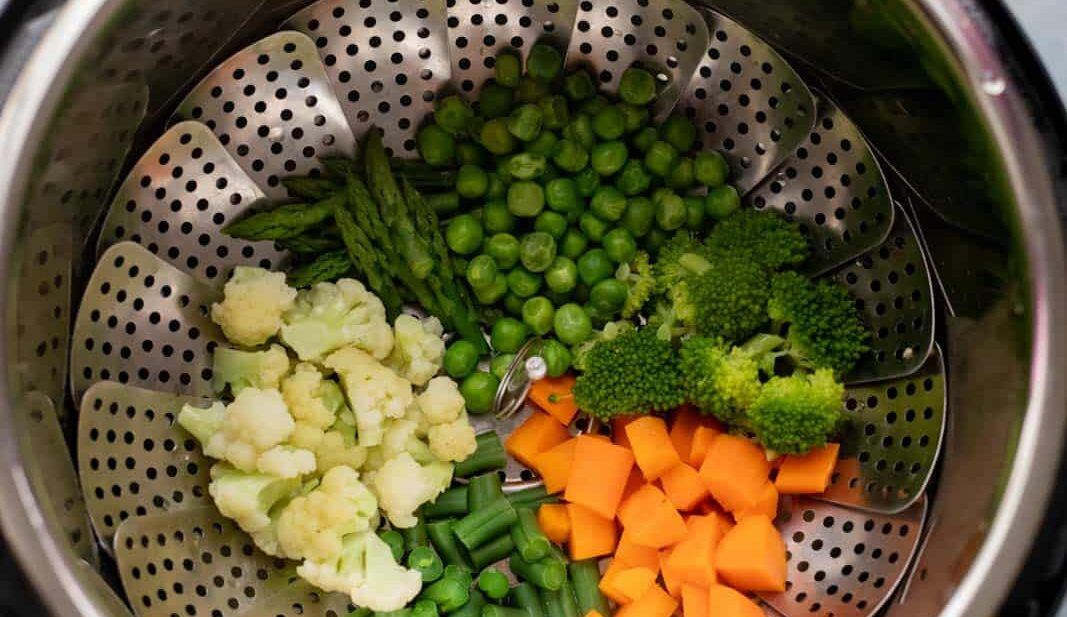 Veggies cooked in the Instant Pot in zero minutes